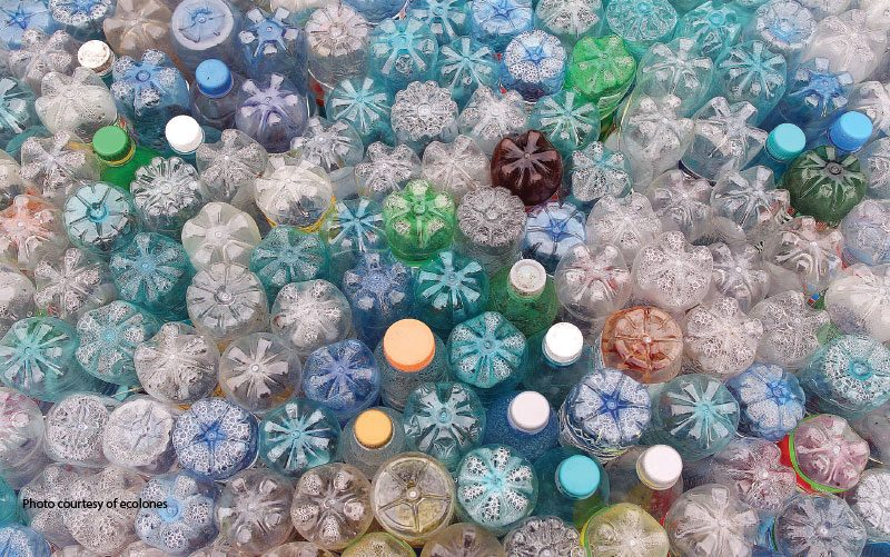 recycled plastic bottles in costa rica